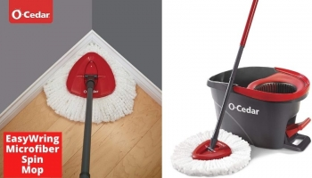 O-Cedar EasyWring Microfiber Spin Mop review | The Best One